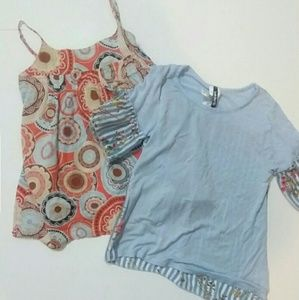 2 Floral girl's blouses